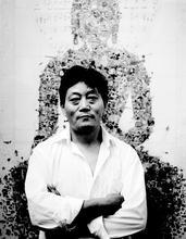 China, Beijing, Tibetan artists, Artists, Contemporary Art, portrait, Gonkar, Red