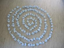 A hand made  paper spiral, on my studio floor, Princeton, NJ2011 Digital Photograph,
