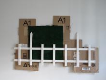 Suburbs, 2012Readymade Assemblage. 100cm x 60cm
