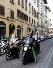 Italy, Florence, people, street, scooters