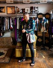 Andrew Clancy, fashion designer.