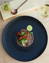 Softshell crab taco, El Lunario restaurant inside La Lomita, Winery.