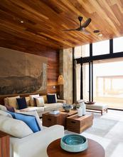 Living room of guest villa, Zadun Ritz Carlton in Los Cabos.
