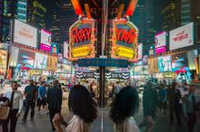 New York, Specular Reflection, Times Square