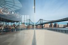 Manhattan Bridge, New York, Reflection, Specular Reflection