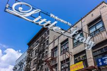 Little Italy, New York, sign