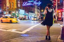 Little Italy, New York, night, restaurant, sign