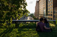 High Line, New York, kissing