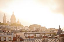 France, Paris, Rooftops, City View